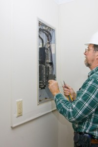 electrician performing Service Panel Upgrade