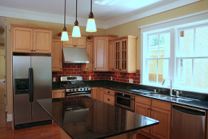 image of kitchen with new lighting